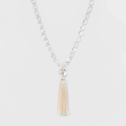 SUGARFIX by Tassel Pendant Beaded Necklace
