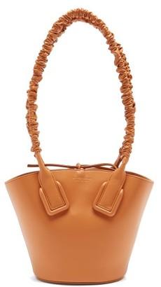 Bottega Veneta Basket Ruched-handle Mini Leather Tote Bag - Tan
