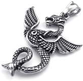 Konov Jewelry Mens Biker Gothic Dragon Stainless Steel Pendant Necklace