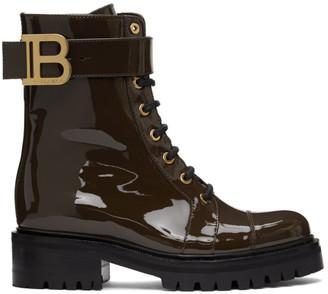 Balmain Brown Ranger Boots