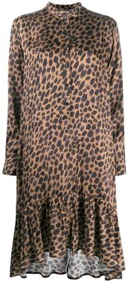 8pm Leopard-Print Midi Dress