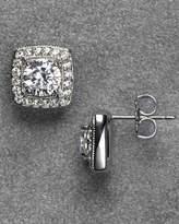Nadri Framed Crystal Stud Earrings