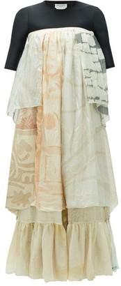 Marine Serre Upcycled Silk-chiffon Maxi Dress - White Multi