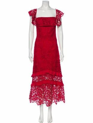 Rachel Zoe Lace Pattern Long Dress w/ Tags Red