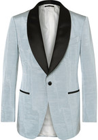 Tom Ford - Blue Slim-fit Satin-trimmed Faille Tuxedo Jacket