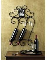 Wine SCROLLWORK WALL WINE RACK Metal Iron Scroll Racks Den Bar Room