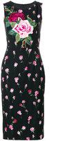 Dolce & Gabbana rose print and appliqué dress