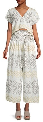 Free People Embroidered Cotton-Blend Toluca Set