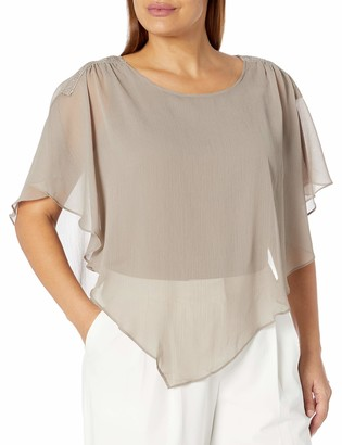 Amy Byer Women's Fashion Popover Top