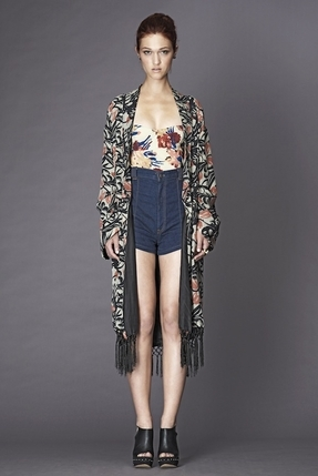 Winter Kate Barbary Kimono Jacket in Multi Print