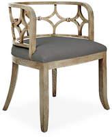 Massoud Furniture Lily Chair - Graphite Linen