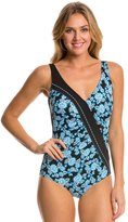 Sun Marin Sunmarin Trinidad Rouched Floral One Piece 8112935