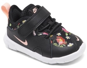 Nike Toddler Girls Flex Contact 4 Stay-Put Closure Running Shoes from Finish Line