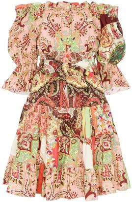 Etro Off The Shoulder Paisley Print Dress