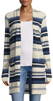 Splendid Cotton Striped Open Cardigan