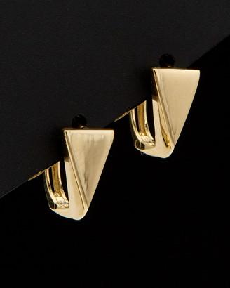 Italian Gold 14K Triangle Huggie Earrings