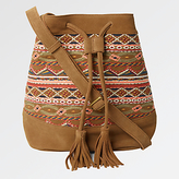 Fat Face Embroidered Bucket Bag, Tan