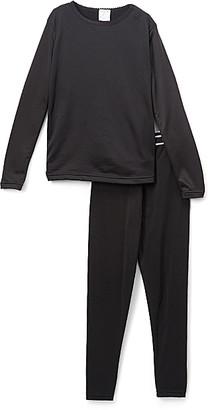 Rocky Girls' Thermal Bottoms Black - Black Fleece Thermal Underwear Long-Sleeve Top & Pants - Girls