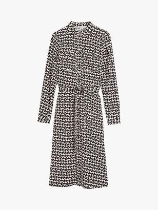 Oasis Puppy Print Midi Shirt Dress, Multi