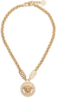 Versace Medusa head crystal-embellished necklace