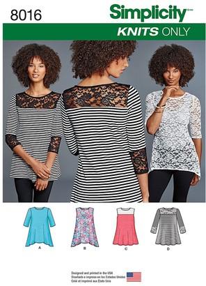 Simplicity Women's Knit Tops, 8016