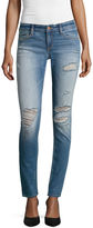 Arizona Destructed Skinny Jeans - Juniors