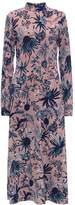 Markus Lupfer ARCTIC FLOWER CREPE ISA Maxi dress deep blush