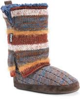 Muk Luks Women's Trisha Bootie Slipper -Multicolor