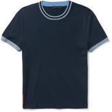 Prada Slim-Fit Stripe-Trimmed Stretch-Cotton Jersey T-Shirt