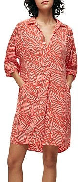 Whistles Tiger Palm Print Shift Dress