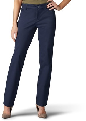 Lee Women's Wrinkle-Free Relaxed Fit Straight-Leg Pants