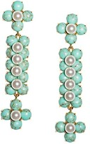 Thumbnail for your product : Lele Sadoughi Cactus 14K Gold-Plated, Stone & Acrylic Pearl Drop Earrings