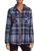 Vintage Havana Skylar Studded Plaid Shirt