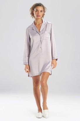 Natori Feathers Satin Essentials Notch Collar Sleepshirt