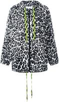 Marc Jacobs leopard print hooded jacket - women - Polyester - XS