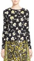 Oscar de la Renta Women's Embellished Floral Knit Wool Blend Sweater