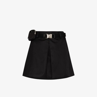 Prada Box-Pleat Mini Skirt