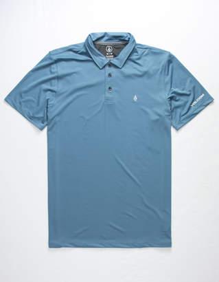 Volcom Wowzer Hazard Light Blue Mens Polo Shirt