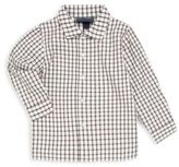 Oscar de la Renta Boy's Spread Collar Check Shirt