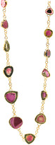 Tresor Collection - Bicolor Tourmaline long necklace in 18k Yellow Gold