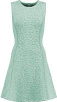 Issa Claudia stretch jacquard-knit mini dress