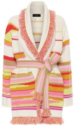 Alanui Sarape Landscape cashmere-jacquard cardigan
