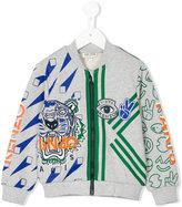 Kenzo multi-print zipped sweatshirt