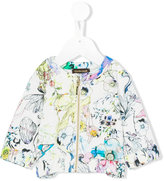 Roberto Cavalli printed bomber jacket - kids - Cotton/Spandex/Elastane - 3 mth