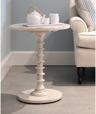 Thumbnail for your product : MacKenzie-Dow Solid Wood Pedestal End Table Color: Acanthus