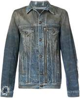 R 13 oil washed denim jacket