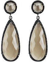 Susan Hanover Women's Semiprecious Stone Double Drop Earrings