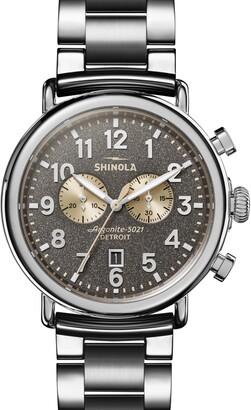 Shinola 'The Runwell Chrono' Bracelet Watch, 47mm