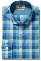 Original Penguin Aqua Slub Madras Dress Shirt