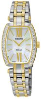 Seiko Women's Tressia Diamond Stainless Steel Solar Watch